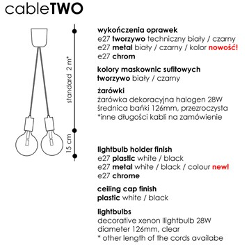 Cable TWO wymiary
